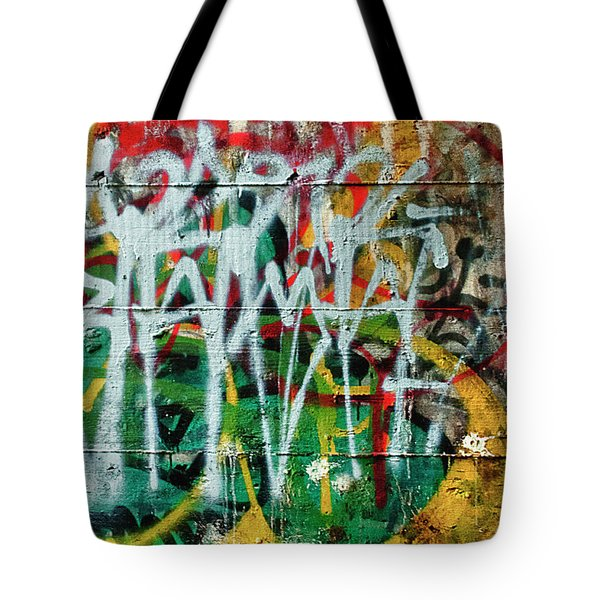 Graffiti Scramble Tote Bag