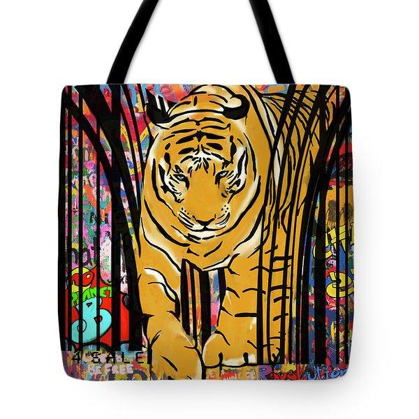 Graffiti Tiger Tote Bag