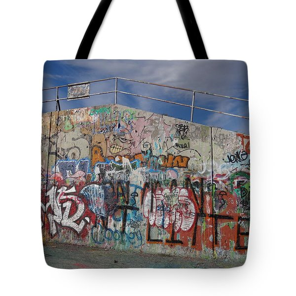 Graffiti Wall Tote Bag by Julia Wilcox