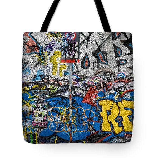 Grafitti On The U2 Wall, Windmill Lane Tote Bag