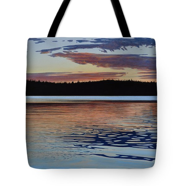 Tote Bag featuring the painting Graham Lake by Kenneth M Kirsch