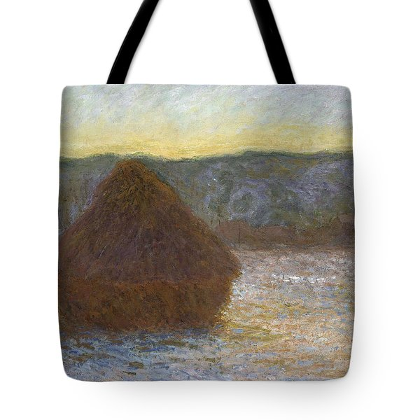 Grainstack, Thaw, Sunset, 1891 Tote Bag