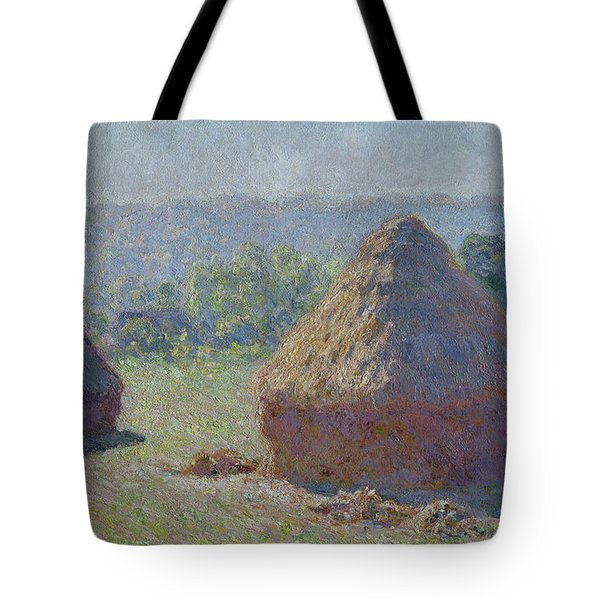 Grainstacks At The End Of Summer, Morning Effect, 1891 Tote Bag
