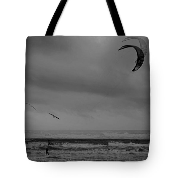 Grainy Wind Surf Tote Bag