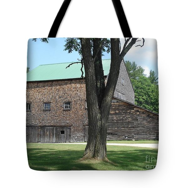 Grammie's Barn Through The Trees Tote Bag