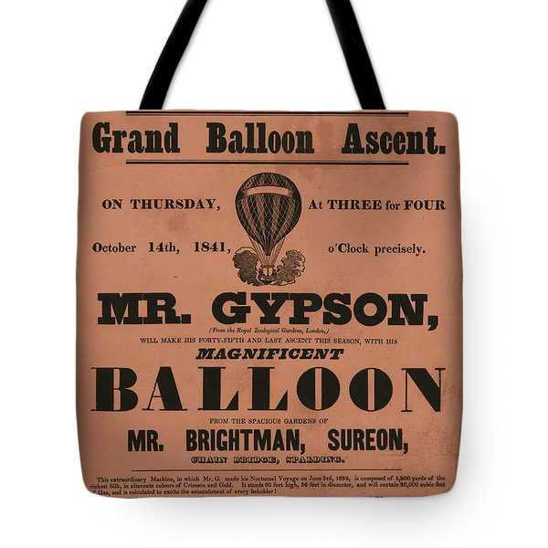 Grand Balloon Ascention Tote Bag