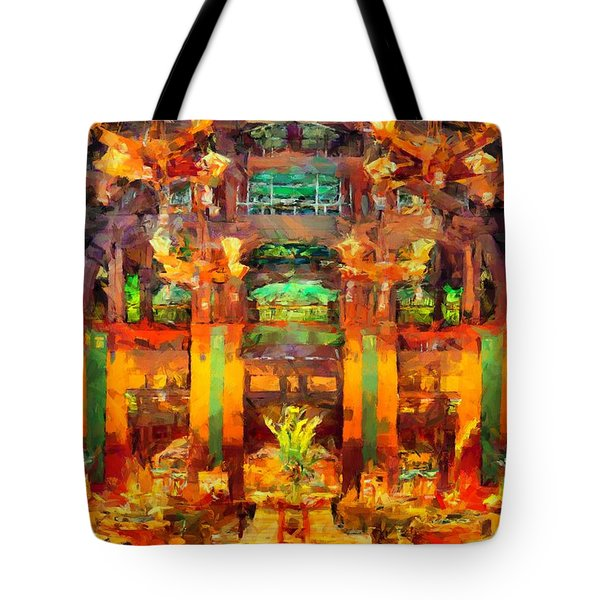 Grand Californian Resort Lobby Tote Bag