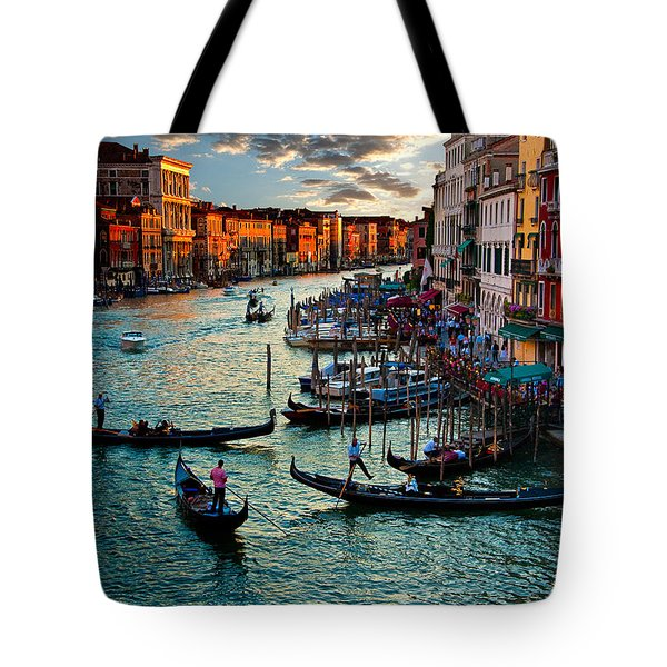 Grand Canal Sunset Tote Bag by Harry Spitz