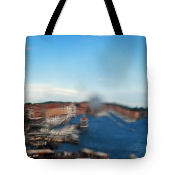 Grand Canal Through Window Tile Tote Bag
