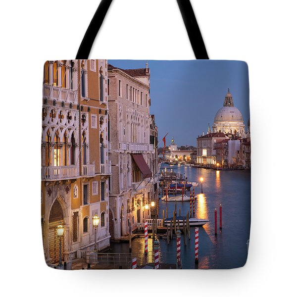Tote Bag featuring the photograph Grand Canal Twilight by Brian Jannsen