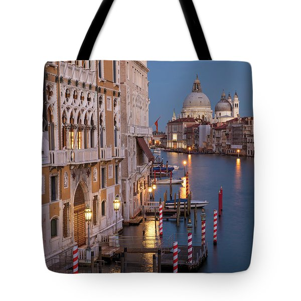 Tote Bag featuring the photograph Grand Canal Twilight II by Brian Jannsen