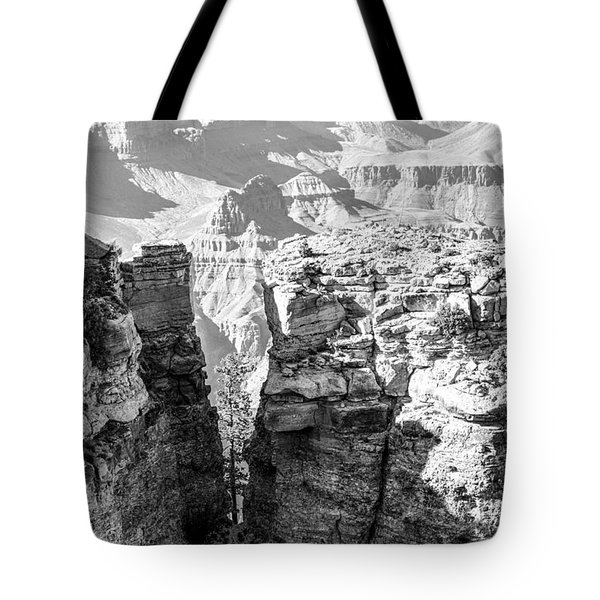 Tote Bag featuring the photograph Grand Canyon Bw Impression by Juergen Klust