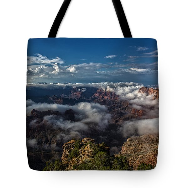 Grand Canyon Fog Tote Bag