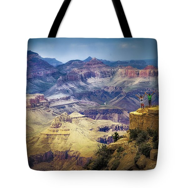 Grand Canyon Hello Tote Bag by James Bethanis