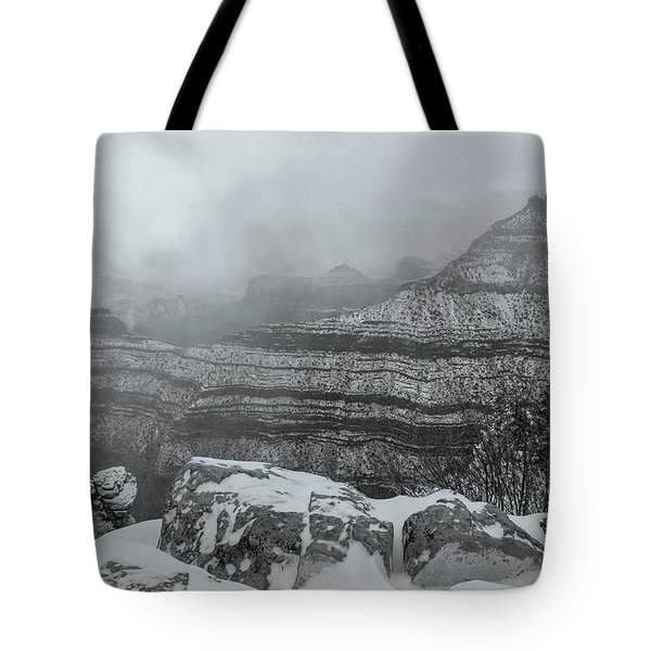Grand Canyon In The Fog Tote Bag