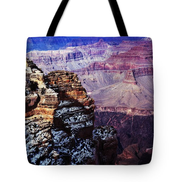 Grand Canyon In Winter Tote Bag