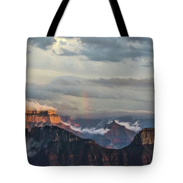 Grand Canyon Monsoon Rainbow Tote Bag