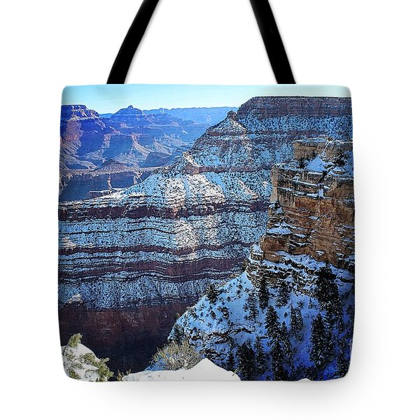 Grand Canyon National Park In Winter Tote Bag