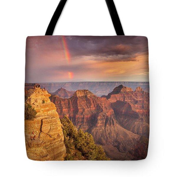 Grand Canyon North Rim Rainbow Tote Bag