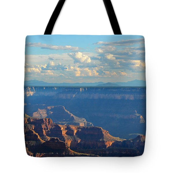 Grand Canyon North Rim Sunset San Francisco Peaks Tote Bag