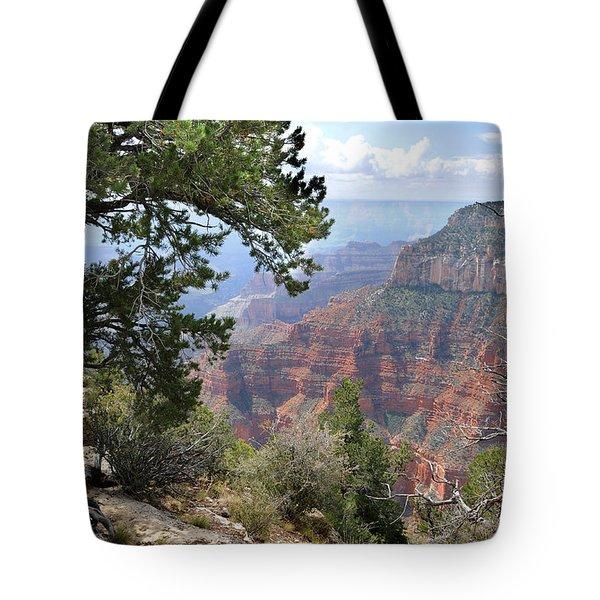 Grand Canyon North Rim - Through The Trees Tote Bag