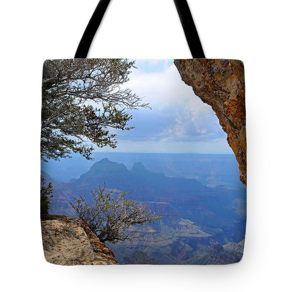Grand Canyon North Rim Window In The Rock Tote Bag