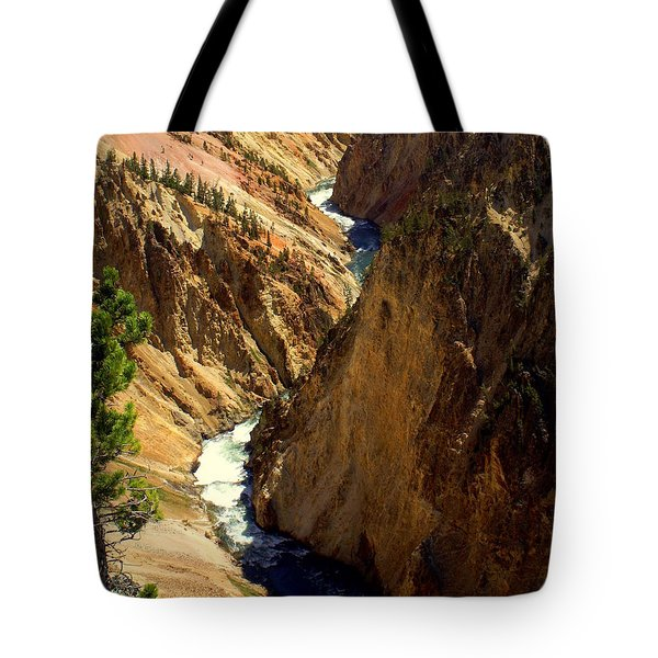 Grand Canyon Of The Yellowstone 2 Tote Bag by Marty Koch