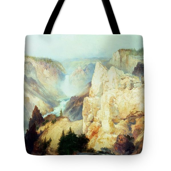 Grand Canyon Of The Yellowstone Park Tote Bag by Thomas Moran
