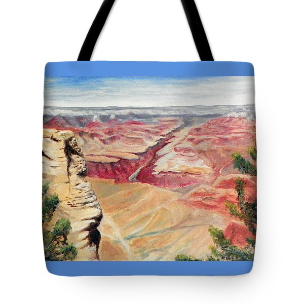 Grand Canyon Overlook Tote Bag by Sherril Porter