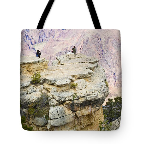 Tote Bag featuring the photograph Grand Canyon Photo Op by Chris Dutton