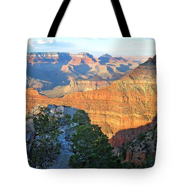 Grand Canyon South Rim At Sunset Tote Bag