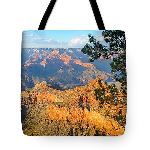 Grand Canyon South Rim - Pine At Right Tote Bag