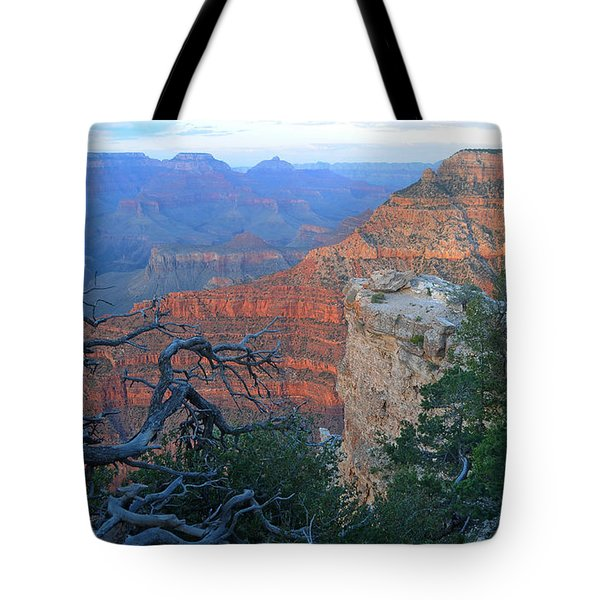 Grand Canyon South Rim - Red Hues At Sunset Tote Bag