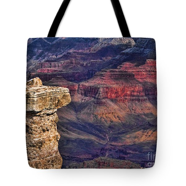 Tote Bag featuring the photograph Grand Canyon Stacked Rock by Roberta Byram