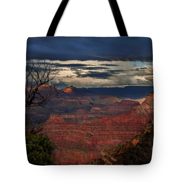 Tote Bag featuring the photograph Grand Canyon Storm Clouds by John A Rodriguez