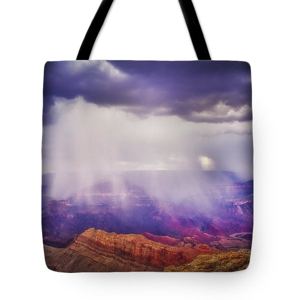 Grand Canyon Storm Tote Bag by James Bethanis