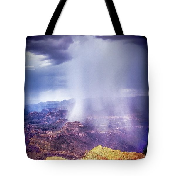Grand Canyon Summer Storm Tote Bag by James Bethanis