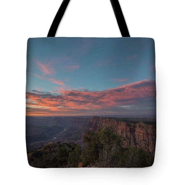 Tote Bag featuring the photograph Grand Canyon Sunset 1943 by David Haskett