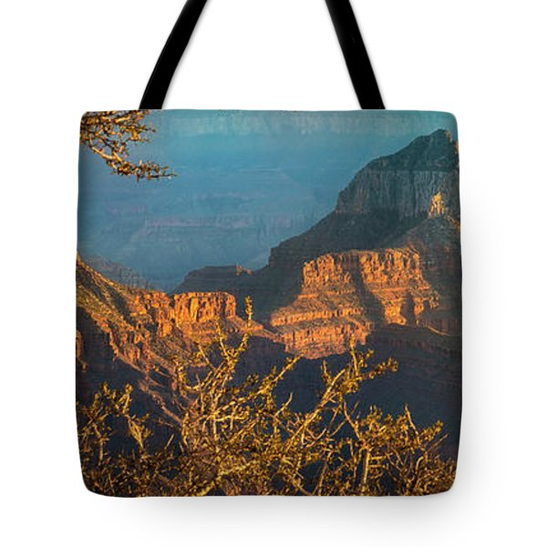 Grand Canyon Sunset Panorama Tote Bag