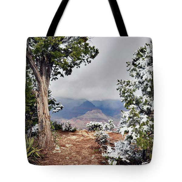 Grand Canyon Through The Trees Tote Bag