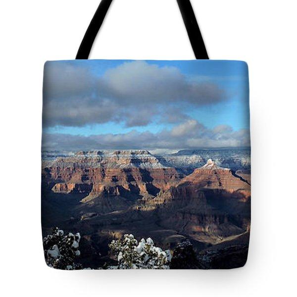 Grand Canyon Winter Vista Tote Bag