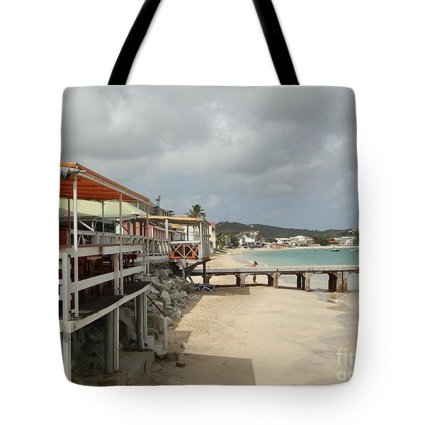Grand Case Pier Tote Bag