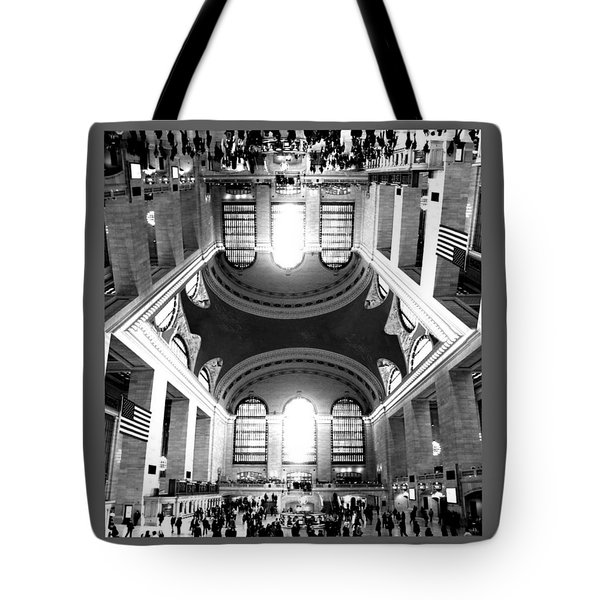 Tote Bag featuring the photograph Grand Central Terminal Mirrored by Diana Angstadt