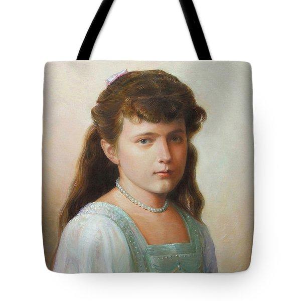 Grand Duchess Anastasia Nikolaevna Of Russia Tote Bag by George Alexander