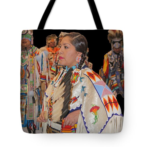Grand Entry-4 Tote Bag by Audrey Robillard