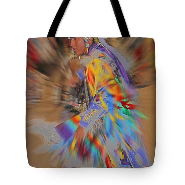 Grand Entry Moves Tote Bag by Audrey Robillard