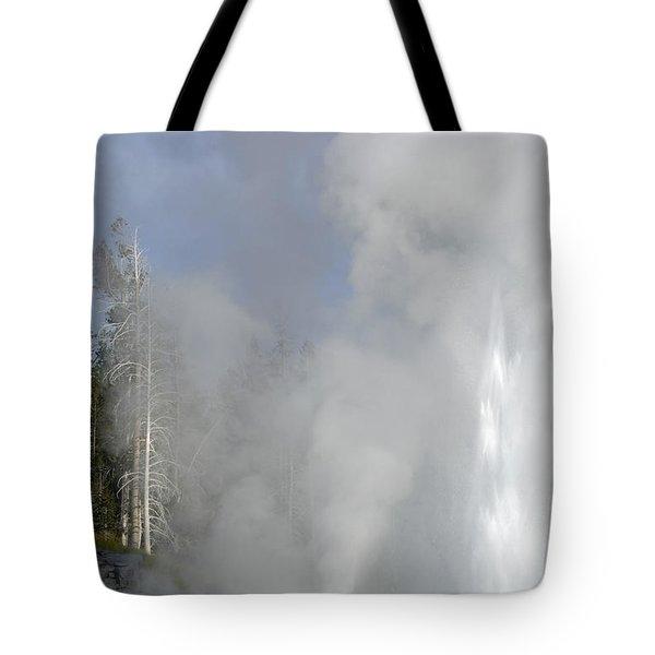 Grand Geyser Vertical Tote Bag