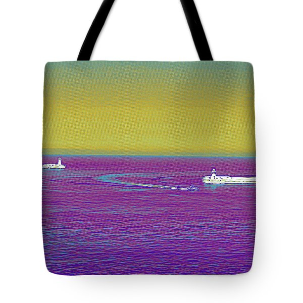 Purple Sea Tote Bag