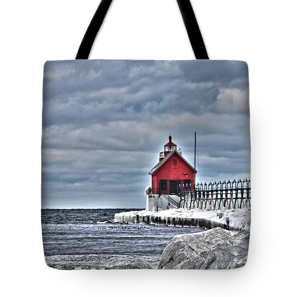 Grand Haven Lighthouse Tote Bag