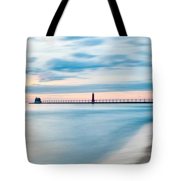 Grand Haven Pier - Smooth Waters Tote Bag